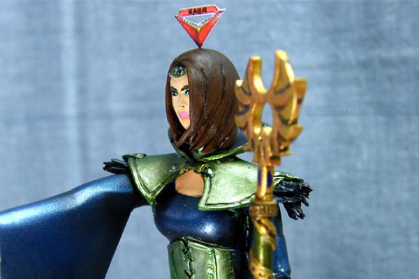 La figurine Gaea avec mon 1er stuff niveau 100 !