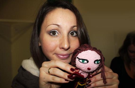 Une jolie poupée Gaea tricotée par Lucile !